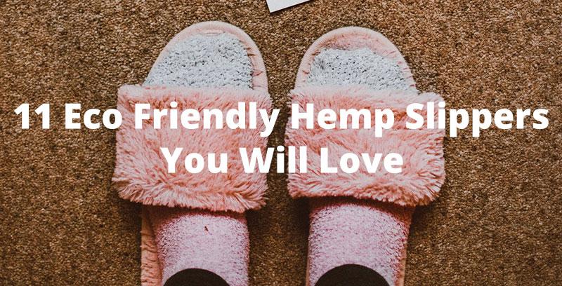 eco friendly hemp slippers