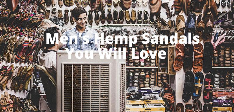 best mens hemp sandals