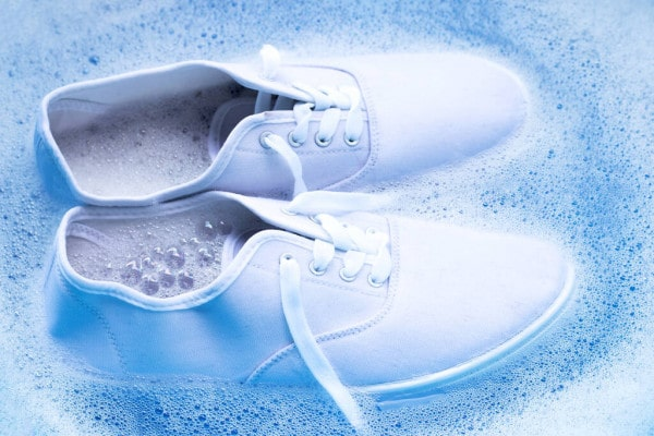 3.Soak Your Shoes in Warm Water
